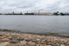 Autumn over the Neva river in St. Petersburg, Russia Royalty Free Stock Images