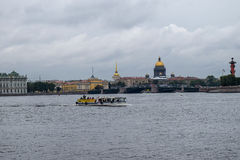 Autumn over the Neva river in St. Petersburg, Russia Stock Photos