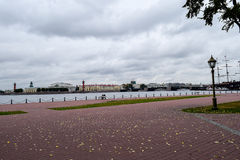 Autumn over the Neva river in St. Petersburg, Russia Stock Image