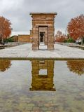 Autumn over the Temple of debod in Madrid, Spain Stock Photography
