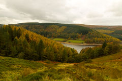Autumn over to Derwent valley Royalty Free Stock Images
