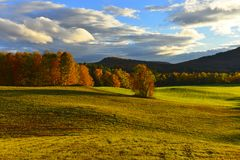 Autumn over a Vermont Meadow Royalty Free Stock Photo