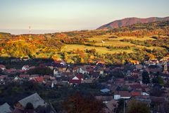 Autumn over the village royalty free stock photography