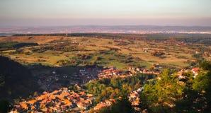 Autumn over the village. Autumn over the Rasinari village, Sibiu county, Romania stock image