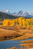 Autumn at Oxbow Bend Stock Images