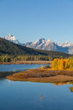 Autumn at Oxbow Bend Royalty Free Stock Photos