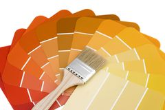 Autumn painters palette. Painters palette (yellow-red) isolated Stock Image