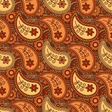 Autumn paisley pattern Stock Image