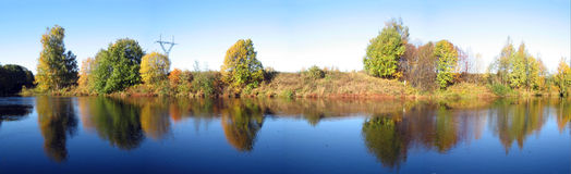 Autumn panorama Stock Photography