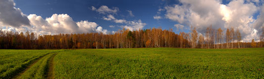 Autumn panorama Stock Photo