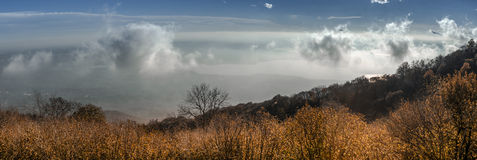 Autumn panorama from Campo dei Fori, Varese Royalty Free Stock Photography