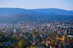 Autumn panorama in the city Wernigerode Stock Photography
