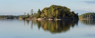 Autumn Panorama of Northern Lake Royalty Free Stock Photos