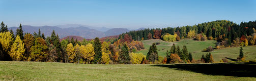 Autumn Panorama. Slovakian mountains in hearth of Europe Royalty Free Stock Photo