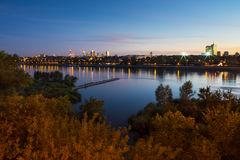 Autumn panorama of Warsaw Stock Photography