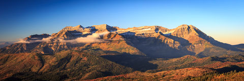 Autumn panorama in the Wasatch Mountains. Royalty Free Stock Image