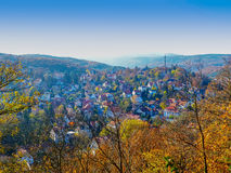 Autumn panorama in Wernigerode Royalty Free Stock Image