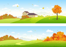 Autumn panoramic landscapes Royalty Free Stock Photo