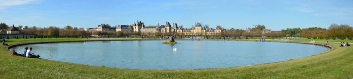 Autumn panoramic view of Fontainebleau Royalty Free Stock Photography
