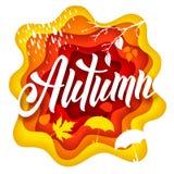 Autumn paper art Stock Photography