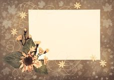 Autumn paper frame, copy space Stock Image