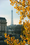 Autumn in Paris. And eiffel tower Royalty Free Stock Photo