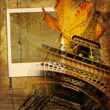 Autumn in Paris. Romantic background in retro style Royalty Free Stock Photography