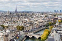 Autumn Parisian Panorama stock images
