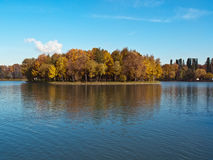 Autumn Park. The Moscow city park in autumn day Royalty Free Stock Photo