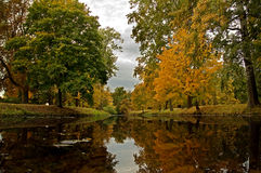 Autumn park. October, Ukraine, Bila Tserkva, the historical landscape park Alexandria Royalty Free Stock Image