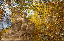 Autumn park in Brussel Royalty Free Stock Images