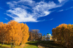 Old house in the autumn park Stock Photography