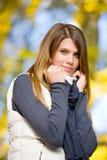 Autumn park - fashion model woman Stock Photo
