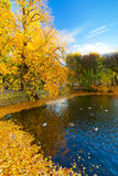 Autumn in the park in Gdansk Stock Photography