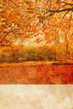 Autumn in the park grungy background Royalty Free Stock Photography