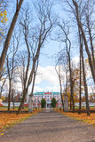 Autumn park Kadriorg, Tallinn Royalty Free Stock Photos
