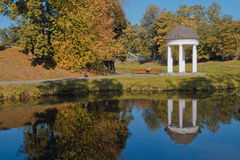 Autumn park in Kaliningrad (Russia). Royalty Free Stock Image