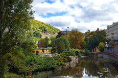 Autumn park in Karlsbad (Karlovy Vary) Royalty Free Stock Image