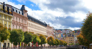 Autumn park in Karlsbad (Karlovy Vary) Stock Photography