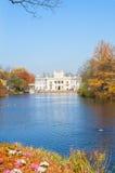 Autumn park Lazienki, Warsaw Royalty Free Stock Image