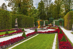 In the Autumn park. In the park of Linderhof Palace. Bavaria, Germany Stock Photo