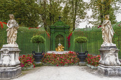 In the Autumn park. In the park of Linderhof Palace. Bavaria, Germany Royalty Free Stock Image