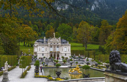 In the Autumn park. In the park of Linderhof Palace. Bavaria, Germany Royalty Free Stock Photo