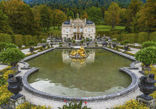 In the Autumn park. In the park of Linderhof Palace. Bavaria, Germany Stock Photos