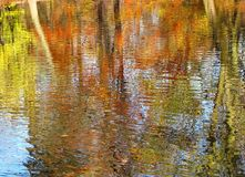 Autumn in the park. Reflection of trees in water Royalty Free Stock Photography