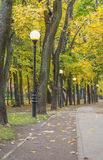 Autumn in the park. Road In the park Kadriorg Royalty Free Stock Photography