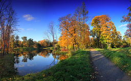 Autumn Park, Russia Royalty Free Stock Photography