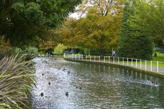 Autumn in the park in South London Royalty Free Stock Photo