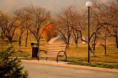 Autumn park in Tekeli Royalty Free Stock Images