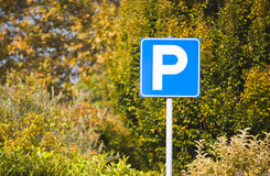 Autumn parking slot Royalty Free Stock Image